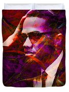 Malcolm X 20140105m28 Duvet Cover by Wingsdomain Art and Photography