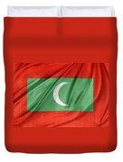 Maldives Flag Duvet Cover by Les Cunliffe