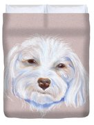 Maltipoo With An Attitude Duvet Cover by MM Anderson