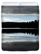 Man Fly Fishing Duvet Cover by Judith Katz