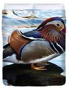 Mandarin Duck Duvet Cover by Robert Bales