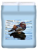 Mandarin Duck Duvet Cover by Robert Bales