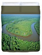 Mangrove Forest In Mahakam Delta Duvet Cover by Cyril Ruoso