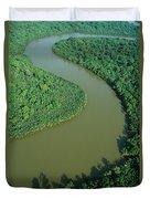 Mangrove Rhizophora Sp In Mahakam Delta Duvet Cover by Cyril Ruoso
