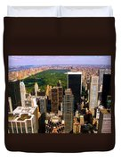 Manhattan and Central Park Duvet Cover by Monique Wegmueller