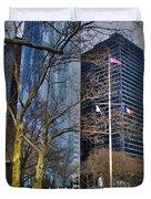Manhattan Duvet Cover by Claudia Mottram