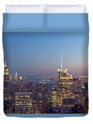 Manhattan Skyline from the Top of the Rock Duvet Cover by Juergen Roth