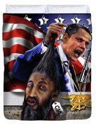Manifestation Of Frustration - I Am Commander In Chief - Period - On My Watch - Me And My Boys 1-2 Duvet Cover by Reggie Duffie