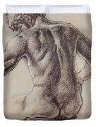 Man's Back Duvet Cover by Sarah Parks