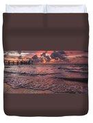 Marathon Key Sunrise Panoramic Duvet Cover by Adam Romanowicz