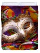 Mardi Gras - Celebrating Mardi Gras Duvet Cover by Mike Savad