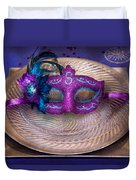 Mardi Gras Theme - Surprise Guest Duvet Cover by Mike Savad