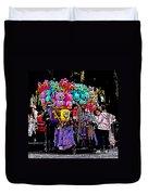 Mardi Gras Vendor's Cart Duvet Cover by Marian Bell