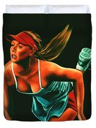 Maria Sharapova  Duvet Cover by Paul  Meijering