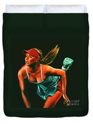 Maria Sharapova  Duvet Cover by Paul Meijering