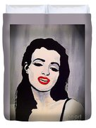 Marilyn Monroe Aka Norma Jean Artistic Impression Duvet Cover by Saundra Myles