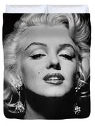 Marilyn Monroe Black and White Duvet Cover by Nomad Art And  Design