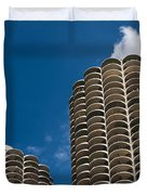 Marina City Morning Duvet Cover by Steve Gadomski