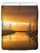 Marina Golden Sunset Duvet Cover by Mike Reid