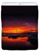 Marina Sunset Duvet Cover by Dawn OConnor