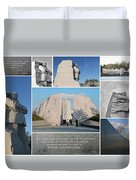 Martin Luther King Jr Memorial Collage 1 Duvet Cover by Allen Beatty