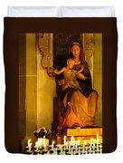 Mary And Baby Jesus Duvet Cover by Syed Aqueel