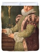 Mary Queen of Scots Duvet Cover by Sir James Dromgole Linton