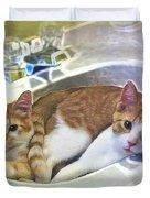 Mary's Cats Duvet Cover by Joan  Minchak