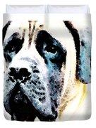 Mastif Dog Art - Misunderstood Duvet Cover by Sharon Cummings