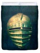Maximilian Knights Armour Helmet Duvet Cover by Edward Fielding