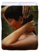 May Morning Arkansas River 3 Duvet Cover by Thu Nguyen