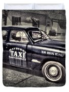 Mayberry Taxi Duvet Cover by David Arment