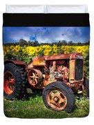 Mccormick Deering Duvet Cover by Debra and Dave Vanderlaan