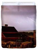 Mcintosh Farm Lightning Thunderstorm Duvet Cover by James BO  Insogna