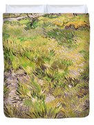 Meadow With Butterflies Duvet Cover by Vincent Van Gogh