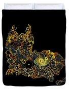 Mechanical - Cat Duvet Cover by Fran Riley