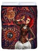 Mechanical Garden Duvet Cover by Mo T