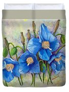 Meconopsis    Himalayan Blue Poppy Duvet Cover by Karin  Dawn Kelshall- Best