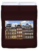 Medieval Houses In Rennes Duvet Cover by Elena Elisseeva