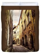 Medieval Street In Perigueux Duvet Cover by Elena Elisseeva