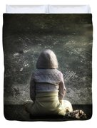 meditation Duvet Cover by Stylianos Kleanthous