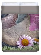 Megaboots Duvet Cover by Joan Carroll