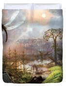 Meganeura In Upper Carboniferous Duvet Cover by Science Source