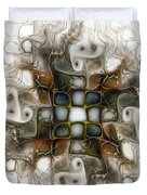 Memory Boxes-fractal Art Duvet Cover by Karin Kuhlmann