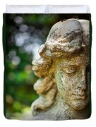 Memphis Elmwood Cemetery - Girl With Cross Close-up Duvet Cover by Jon Woodhams