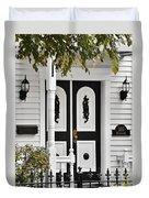 Menomonee Street Old Town Chicago Duvet Cover by Christine Till