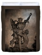 Mercury Carrying Eurydice To The Underworld Duvet Cover by Loriental Photography