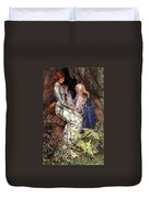Merlin And Vivien Duvet Cover by Eleanor Fortescue Brickdale
