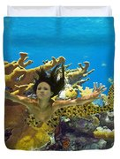 Mermaid Camoflauge Duvet Cover by Paula Porterfield-Izzo