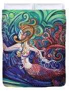 Mermaid Gargoyle Duvet Cover by Genevieve Esson